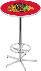 Chicago Blackhawks Red NHL Chrome Pub Table