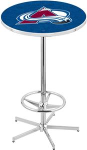 Colorado Avalanche NHL Chrome Pub Table