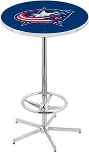 Columbus Blue Jackets NHL Chrome Pub Table