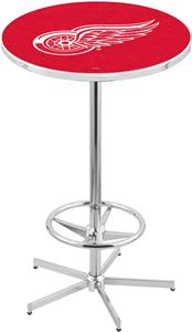 Detroit Red Wings NHL Chrome Pub Table