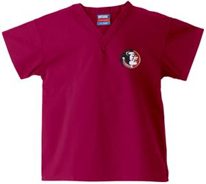 Florida State Univ Kid's Crimson Scrub Tops