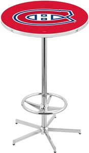Montreal Canadiens NHL Chrome Pub Table