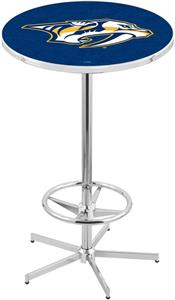 Nashville Predators NHL Chrome Pub Table