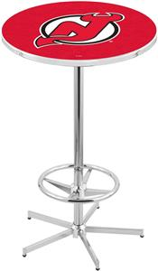 New Jersey Devils NHL Chrome Pub Table