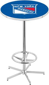 New York Rangers NHL Chrome Pub Table