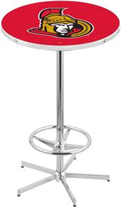 Ottawa Senators NHL Chrome Pub Table