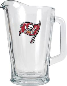 NFL Tampa Bay Buccaneers 1/2 Gallon Glass Pitcher