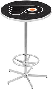 Philadelphia Flyers Blk NHL Chrome Pub Table