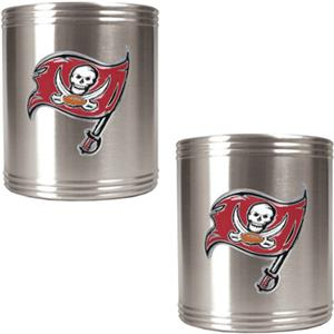 NFL Buccaneers Stainless Steel Can Holders
