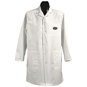 Univ of Florida Gators White Long Labcoats