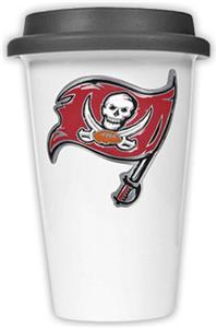 NFL Tampa Bay Buccaneers Ceramic Cup w/Black Lid