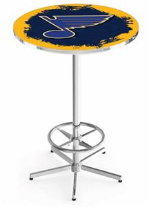 St Louis Blues NHL Chrome Pub Table