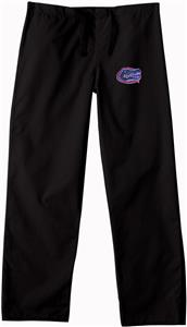 Univ of Florida Gators Black Classic Scrub Pants