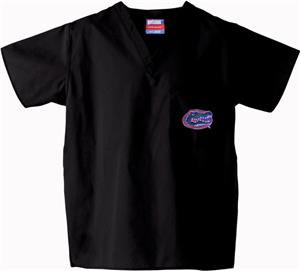 Univ of Florida Gators Black Classic Scrub Tops