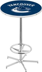 Vancouver Canucks NHL Chrome Pub Table