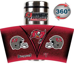 NFL Buccaneers 16oz Gameball Travel Tumbler