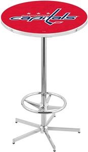Washington Capitals NHL Chrome Pub Table