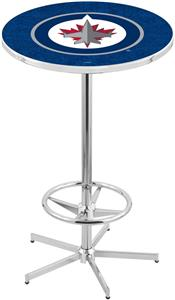 Winnipeg Jets NHL Chrome Pub Table