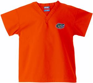 Univ of Florida Gators Kid&#39;s Orange Scrub Tops