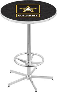 United States Army Chrome Pub Table