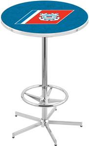 United States Coast Guard Chrome Pub Table