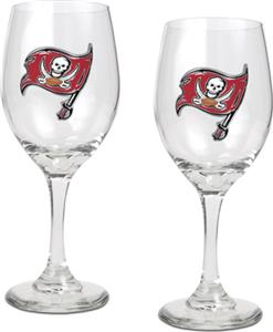NFL Tampa Bay Buccaneers 2 Piece Wine Glass Set