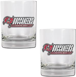 NFL Tampa Bay Buccaneers 2 piece Rocks Glass Set