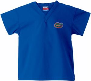 Univ of Florida Gators Kid's Royal Scrub Tops