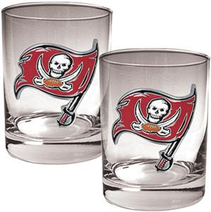 NFL Buccaneers 14oz 2 piece Rocks Glass Set