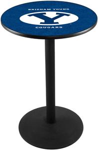 Brigham Young University Round Base Pub Table