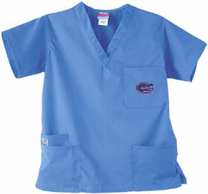 Univ of Florida Gators Sky 3-Pocket Scrub Tops