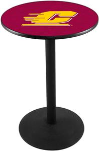 Central Michigan University Round Base Pub Table