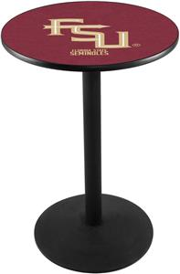 Florida State Script Round Base Pub Table