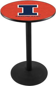 Holland Univ of Illinois Round Base Pub Table