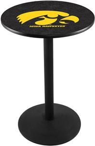 Holland University of Iowa Round Base Pub Table