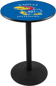 Holland University of Kansas Round Base Pub Table