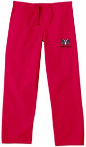 Fresno City College Red Classic Scrub Pants