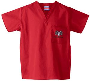 Fresno City College Red Classic Scrub Tops