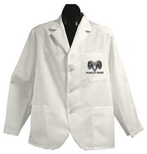 Fresno City College White Short Labcoats