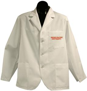 Fresno Pacific University White Short Labcoats