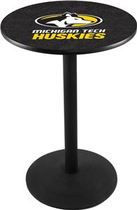 Michigan Tech University Round Base Pub Table
