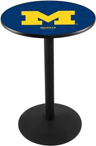 University of Michigan Round Base Pub Table