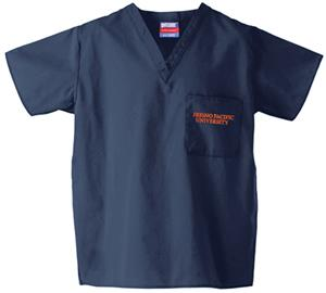 Fresno Pacific University Navy Classic Scrub Tops