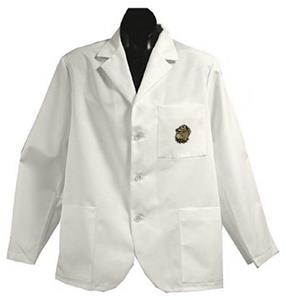 Georgetown Univ Hoya White Short Labcoats