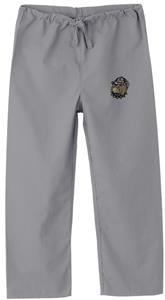 Georgetown Univ Hoya Kid's Gray Scrub Pants