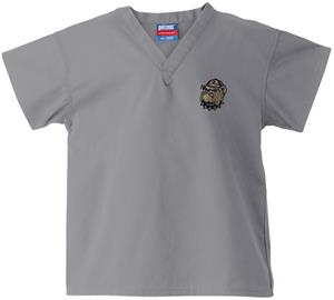 Georgetown Univ Hoya Kid&#39;s Gray Scrub Tops