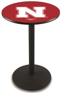 University of Nebraska Round Base Pub Table