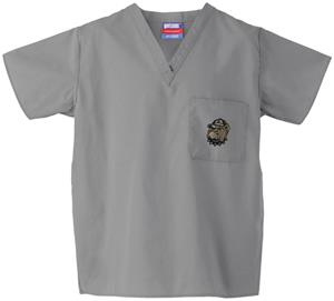 Georgetown Univ Hoya Gray Classic Scrub Tops