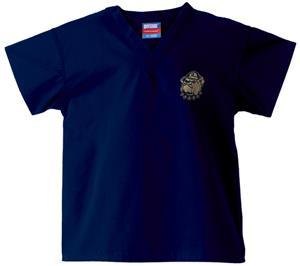 Georgetown Univ Hoya Kid's Navy Scrub Tops