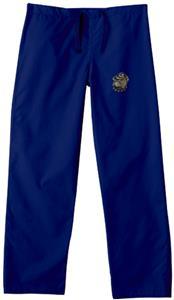 Georgetown Univ Hoya Navy Classic Scrub Pants